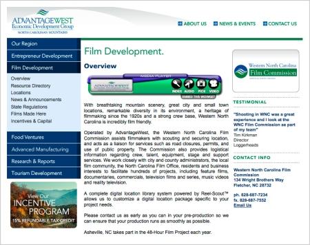 Western North Carolina Film Commission