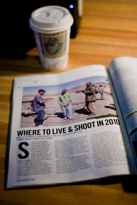 Movie Maker Magazine article