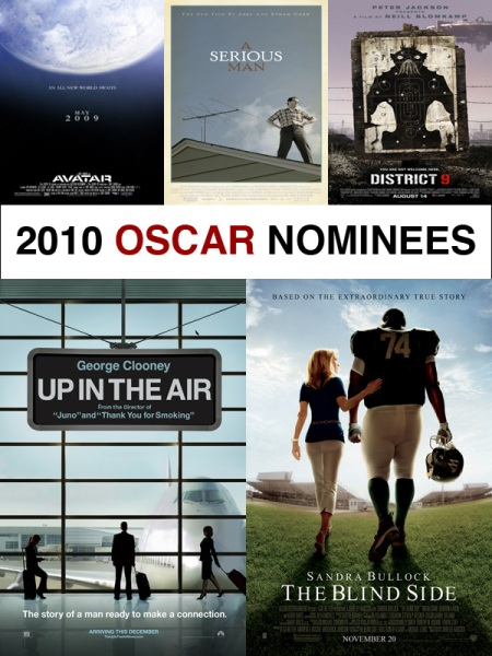 2010 Oscar Nominees for Best Picture